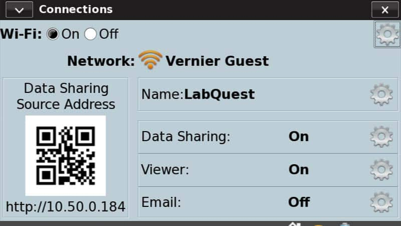 Connecting to a WiFi Network with LabQuest 2