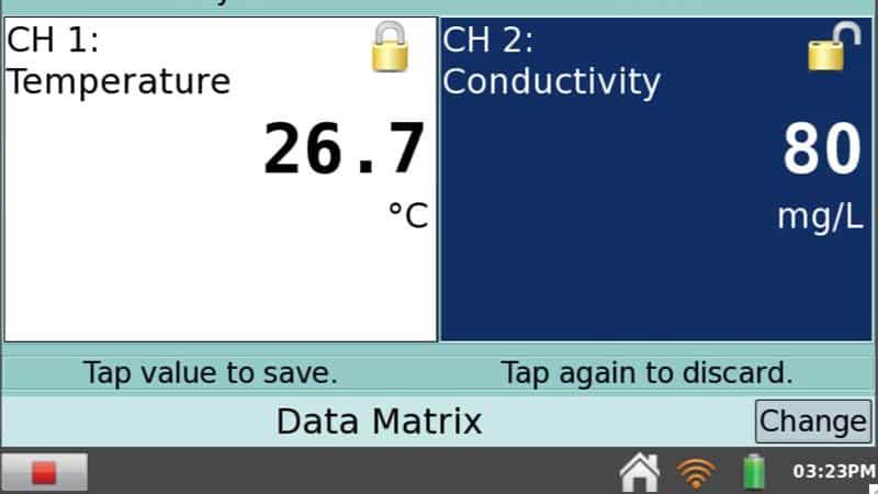 Data Matrix with LabQuest 2