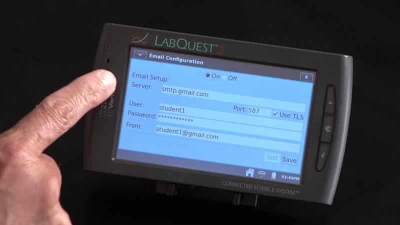 Emailing Data with LabQuest 2