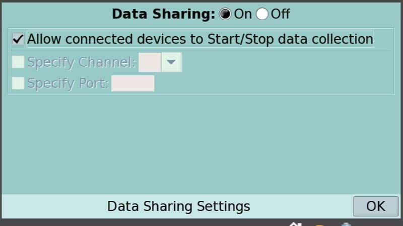 Enable Data Sharing with LabQuest 2