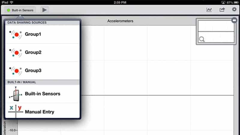 Sharing Data with the Graphical Analysis for iPad