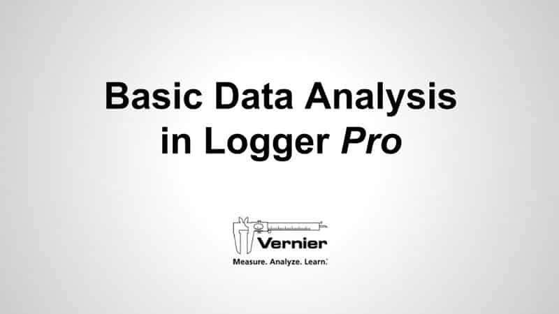 Basic Data Analysis in Logger <i>Pro</i> video