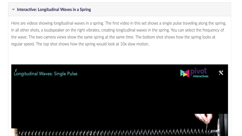 Pivot Interactives: Applying Standing Wave Concepts to Longitudinal Waves video
