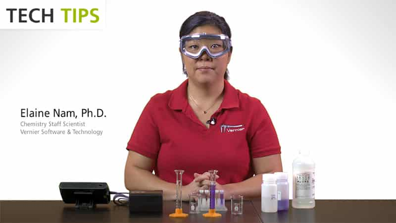 Using Colorimeter with Vernier Chemistry Investigations for Use with AP Chemistry video