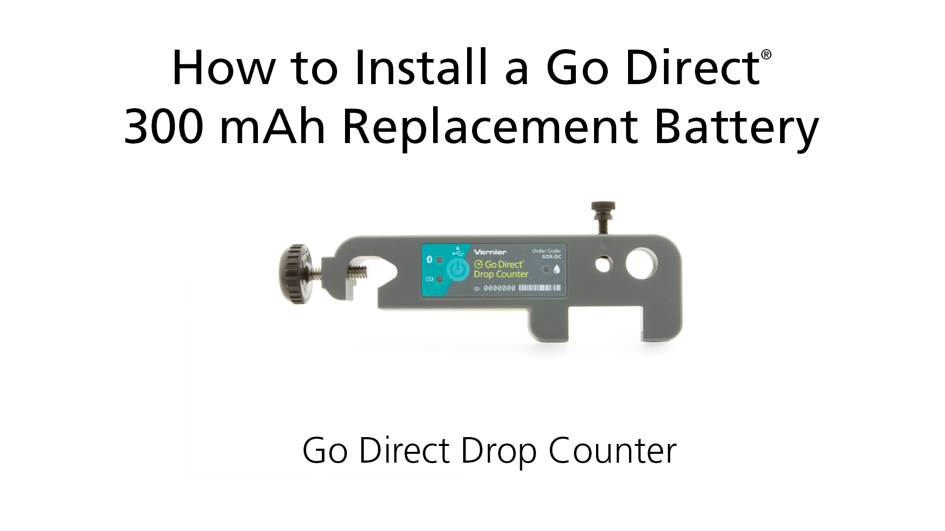 How to Install a Go Direct® 300 mAh Replacement Battery in Go Direct Drop Counter video