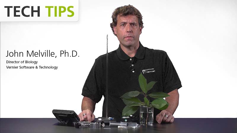 Investigate Transpiration with the Gas Pressure Sensor — Tech Tips video