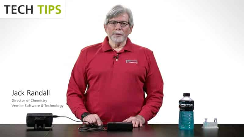 Use LabQuest 2 and SpectroVis Plus to Determine the Amount of Dye in a Sports Beverage - Tech Tips video