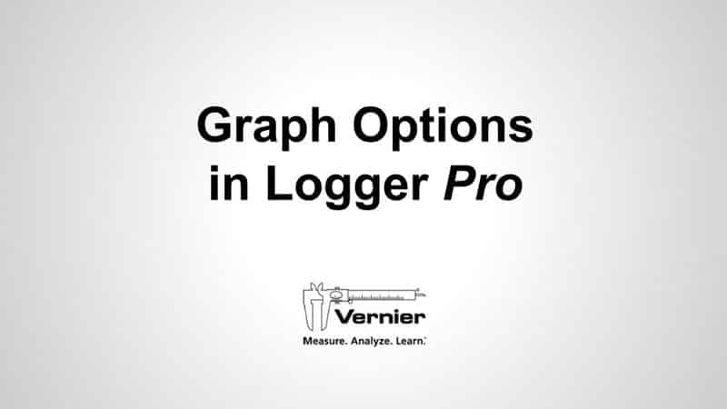 Graph Options in Logger <i>Pro</i>
