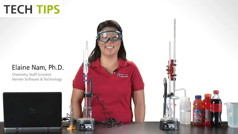 Use Logger <i>Pro</i> to Determine the Concentration of an Acid in a Beverage - Tech Tips video